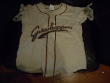 Greensboro Grasshoppers beige baseball jersey youth  sz XL(18-20)
