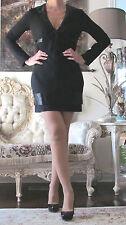 EMILIO PUCCI Runway Celebrity 2013 Black Wool Beaded dress It 40,US 2-6,XS-S