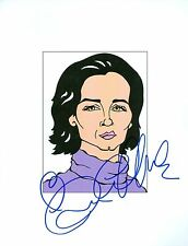 RACHEL GRIFFITHS Six Feet Under, Brother& Sister Signed 8.5x11 Cartoon Autograph
