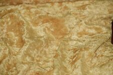 """VELVET PANNE CRUSHED BACKDROP VELOUR STRETCH FABRIC 60"""" WIDE GOLD 45 YARDS ROL"""