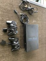 Sony PlayStation 2 PS2 2 Controller Bundle - SCPH-35001 TESTED W/ Original Cords