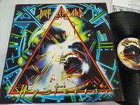 "Def Leppard Hysteria Spain Edition 1987 Phonogram - LP Vinilo 12"" VG/VG"