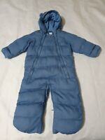 6-9 months Boys Snowsuit GAP blue damaged please read! Fleece lined padded (6)