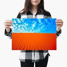 A3| Hot Desert Sand Landscape Blue Sky Size A3 Poster Print Photo Art Gift #2057