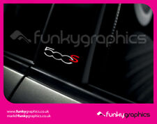 FIAT 500 S SPORT PILLAR STICKERS GRAPHICS DECALS x3 GLOSS SILVER AND RED