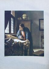 Johannes Vermeer van Delft DER ASTRONOM Originaldruck aus ca. 1920 old print