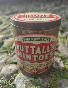 Collectable Large Rare Vintage c1930's Nuttall's Mintoes Tin - Made In Doncaster