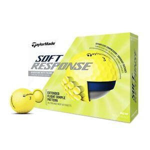 NEW TaylorMade 2020 Soft Response Yellow Golf Balls - Drummond Golf
