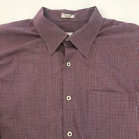 Peter Millar Mens Size 2XL Button Front Long Sleeve Dress Shirt Red Blue