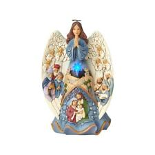 """Jim Shore """"MIRACLE WRAPPED IN LOVE"""" Lit & Musical Nativity Angel ~ NEW"""