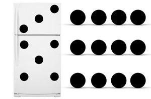 Refrigerator Vinyl Circles Domino Pattern Decals Polka Dot Fridge Stickers Black
