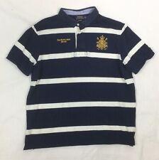VTG Polo by Ralph Lauren Men's M Rugby Polo Shirt Crest Saddle Makers Sz XL