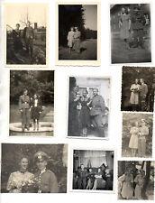 ORIGINAL VINTAGE GERMAN WW2 PHOTOS x 10 TROOPS WITH FRAULEINS