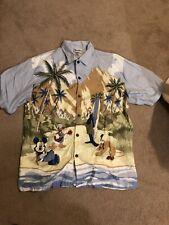 Disney aloha shirt, men's large