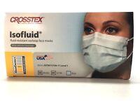 Face Masks CROSSTEX ISOFLUID EARLOOP MASK, 50/BOX, BLUE, LEVEL 1, #GCIBL
