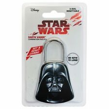 NEW SEALED STAR WARS DARTH VADER 3-WHEEL COMBINATION PADLOCK
