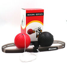 Boxing Fight Exercise Ball with Head Band Speed Training Reflex Reaction Gym Ca
