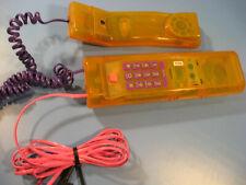 Telephon von swatch Design 1990.Jahre große Drucktastatur in gelb mit Funktion