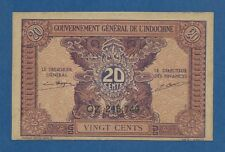 INDOCHINA FRANCESA // FRENCH INDOCHINA -- 20 CENTS ND ( 1942 ) -- UNC -- PICK 90