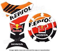 HONDA REPSOL RED B  Kit PROTECTION RESERVOIR et CACHE GAZ *magnifique
