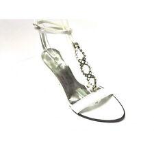 Scardavi Sandalo Donna Gioiello Elegante Tacco 90 bianco Cinturino alla caviglia