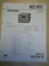 Sony Service Manual~MDS-MX1 MiniDisc Deck~Original~Repair