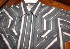 Nwt RUDDOCK Men's L/S Snap front shirt Multi colored Print 16 x 34