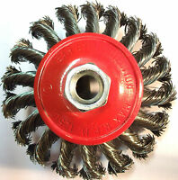 Twist Knot Wire Brush / Wheel For 115mm Angle Grinder ( X 2 ) TZ  WB005