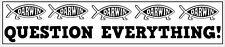 QUESTION EVERYTHING CHARLES DARWIN FISH VINYL STICKER - Novelty - 29 cm x 7 cm
