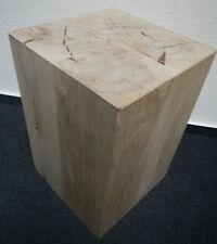 Holzblock Holzklotz Holzwürfel Hocker Kubus Tisch Ablage aus massiver Buche neu