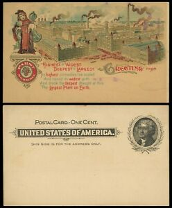 Pabst, Milwaukee, WI multicolor advertising on 1¢ postal card #UX14