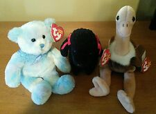 Ty Beanie Baby - Gigi The Black Poodle, Stretch the Ostrich and Laguna Bear