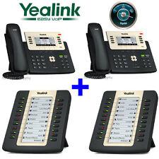 2 Yealink SIP-T27G Gigabit SIP IP Phone 6 Line T27G + 2 Expansion Module EXP20