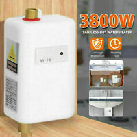 3000W Mini Electric Instant Tankless Hot Water Heater Bathroom Washing Kitchen