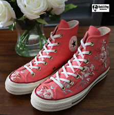 Converse Chuck Taylor 70 Hi Women's Punch Coral Floral Embroidery 561652C New