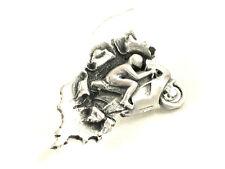 Exclusive! Manx Roadracer Motorbike Pewter Pin Badge