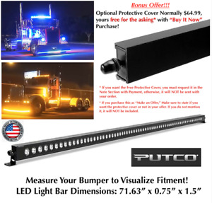 "24V Putco Luminix 70"" LED Spot Flood Fog Light Bar Semi Truck Texas Square"