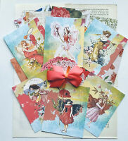 Fairy Junk Journal Kit, Vintage Book Pages,Scrapbook Paper Fairy Prints 75 Items