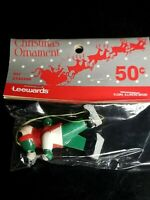 Vintage LeeWards Girl On Skates Christmas Ornament New In Original Unopened