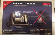 RCA ViSYS 2 Line Business Corded Speakerphone Digital Answering System Callee ID