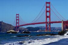 791067 Majestic Golden Gate Bridge San Francisco California USA A4 Photo Print