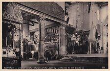PALESTINE - Bethlehem - Interior of the Church of the Nativity