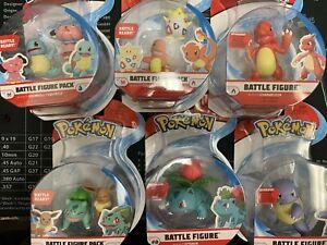 """Pokemon lot of 6 Battle Figure 2"""" Battle Ready- Ivysaur,Wartortle,Togepi..."""