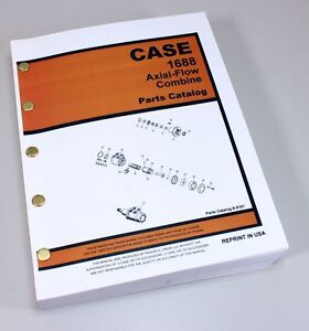CASE IH 1688 AXIAL-FLOW COMBINE PARTS MANUAL CATALOG EXPLODED VIEWS NUMBERS