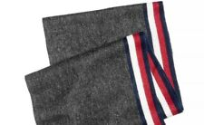 $275 TOMMY HILFIGER MEN GRAY RED WHITE BLUE WARM SCARF WINTER ONE SIZE