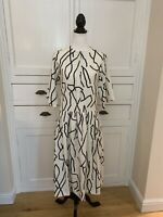 Ellery White & Black Patterned Dress With Lace Back BNWT RRP £513 (Size 10)