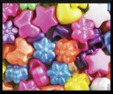 """50 Butterfly Flower Pearl Pony Beads .5"""" 13mm ABCraft"""