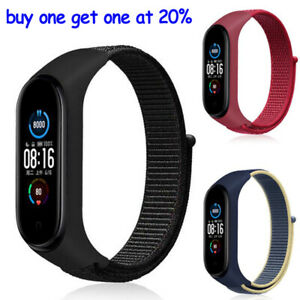 Nylon Replacement Strap For Xiaomi Mi Band 5 6 4 3 Wristband Bracelet For Miband