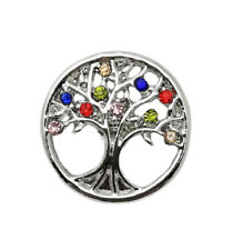 Tree Of Life Crystal Chunk Charm Snap Button Fit For Noosa Necklace/Bracelet
