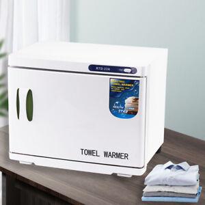 23L UV Hot Towel Warmer Cabinet Facial Sterilizer Disinfection Beauty Salon
